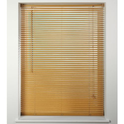 Universal 25mm PVC Venetian Blind - Wood Grain